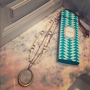 Stella & Dot Natia Necklace Gold Layering beads